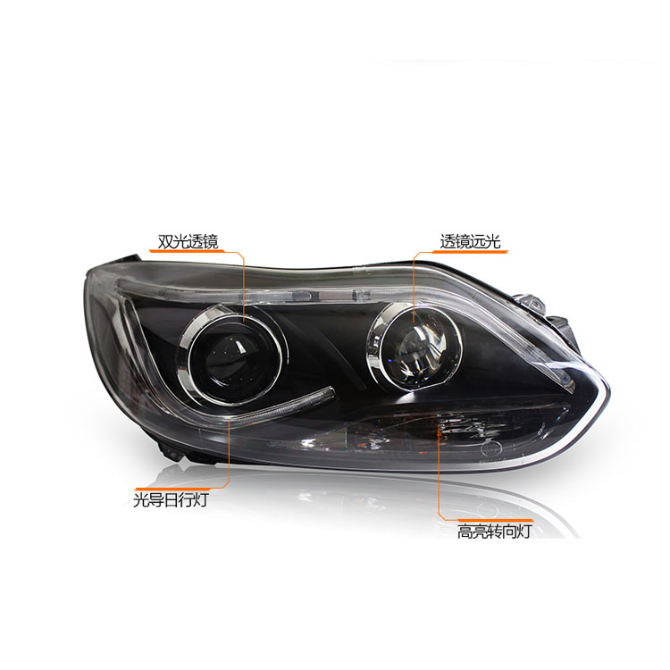 New Eagle Eyes LED DRL Bi-xenon Projector Lens Headlights For Ford Focus 2012-2014
