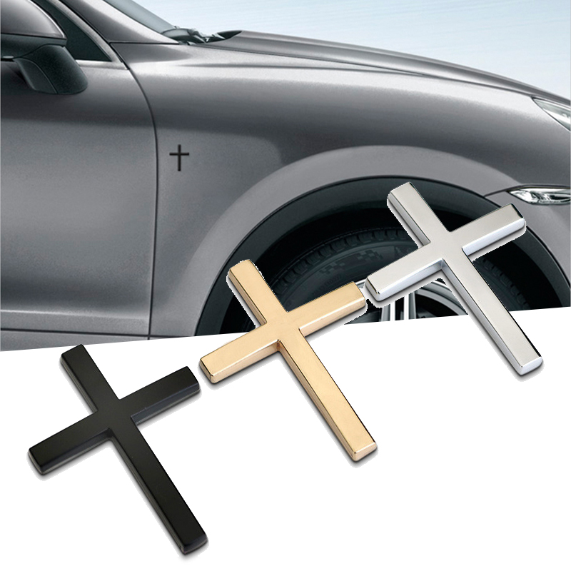 Car Stickers Metal Cross Jesus Christian for Mercedes Benz Amg W204 Cla Opel Astra J H Insignia Fiat 500 Punto Auto Accessories in Car Stickers from Automobiles Motorcycles