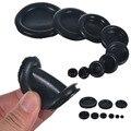 130 шт. прокладки для кабеля черные резиновые закрытые прокладки Ассорти коробка 6 мм-50 мм Диаметр Электрический провод Прокладка инструмент ...