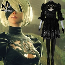 NieR:Automata No.2 Type B YoRHa cosplay costume Custom made hot game cosplay 2B dress mask women sexy costume Halloween