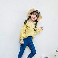 Girls Clothes 2018 Autumn Children Clothing School Girl White Blouse Fashion Ruffles Chiffon Child Shirt Kids