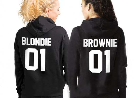 Sugarbaby Sisters Hoodies Sisters Sweatshirt Blondie And Brownie Hoodies Best Friends Hoodies Bff Clothing  Bff Gifts Drop Ship