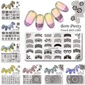 12Pcs/set BORN PRETTY 12*6cm Rectangle Manicure Stamping Template Nail Art Image Plate BPX-L001~012