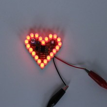 Red DIY Heart Shape Breathing Lamp Kit DC4V-6V DIY Electronic Production DIY Kits Heart Shaped Lamp Suite Electronic DIY Kit