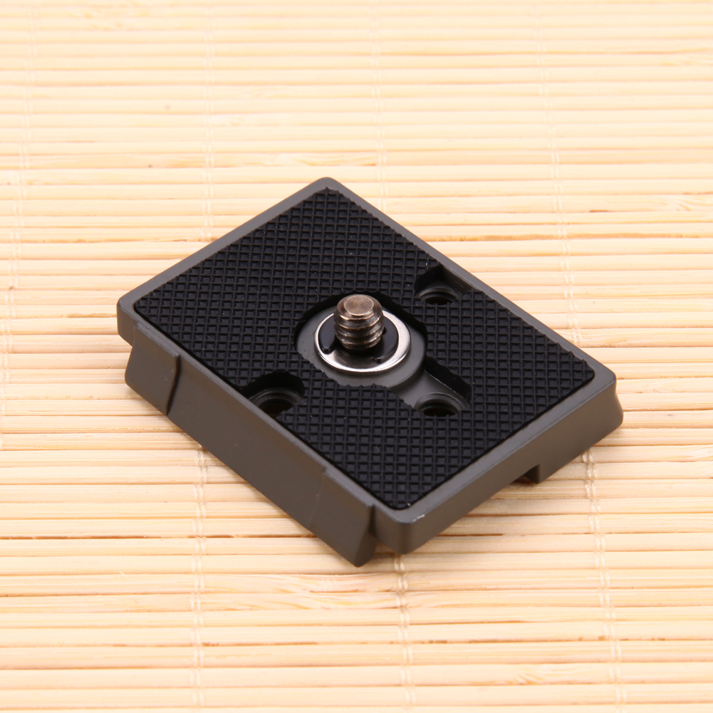 1/4 Screw Hole Quick Release Plate for Manfrotto 200PL-14 Camera Metal Alloy Compatible with for Manfrotto Tripod