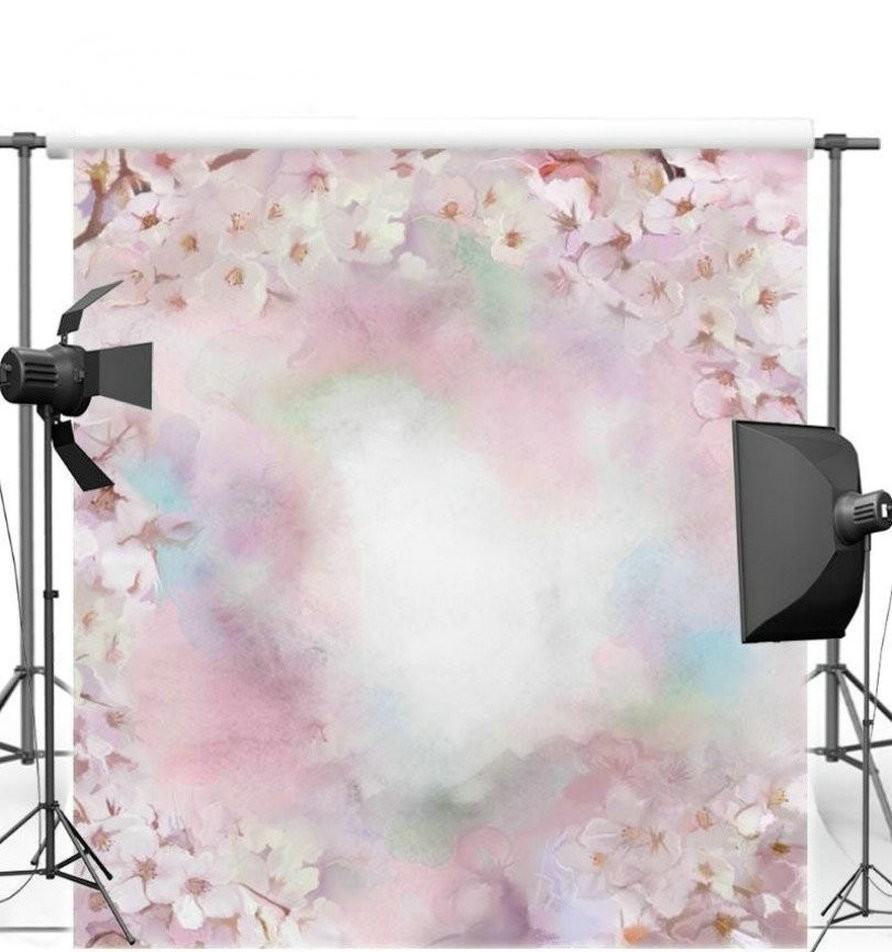 Bokeh Flowers Wedding: Bokeh Spring Pink Wedding Flower Photo Backdrop Vinyl