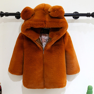2018 New Fashion Baby Boy's Coat middle -length Baby Wool Cotton-Padded Jacket Faux Fur Coat Children Winter Clothes 2018 new fashion baby boy s coat middle length baby wool cotton padded jacket faux fur coat children winter clothes