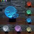 NFL New York Jets Luz Da Noite 3D 1 Conjunto Frete Grátis 7 Cores Mudança LEVOU Noite Criativo Lâmpada Candeeiro de Mesa de Presente de Natal