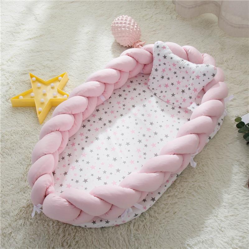 Portable Baby Nest Travel Outdoor Crib Baby Bed Infant Safty Sleeping Bionic Uterus Bed Crib For Newborn Baby