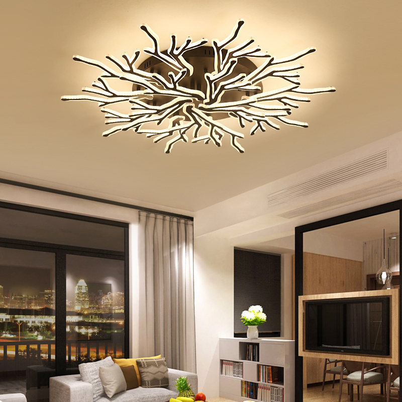 NEO Gleam New Arrival Black Finish Modern Led Ceiling Lights For Living Room Master Bedroom Fixtures AC85-265V Ceiling Lamp