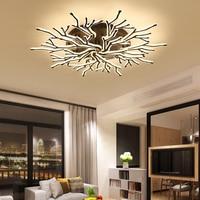 NEO Gleam New Arrival Black Finish Modern Led Ceiling Lights For Living Room Master Bedroom Fixtures AC85 265V Ceiling Lamp