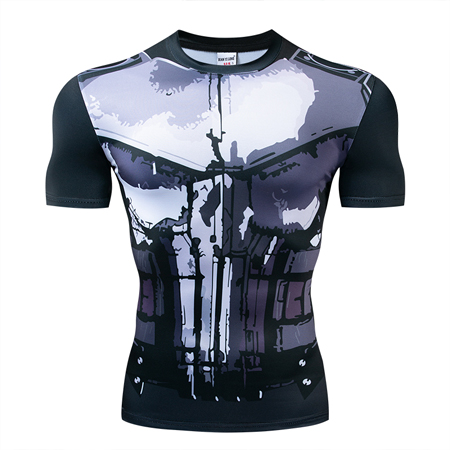Мстители эндгейм футболка Квантовая царство компрессионная с коротким рукавом для мужчин тренажерный зал Спорт Фитнес окрашенные футболки спортивная одежда для мужчин - Цвет: DX-048