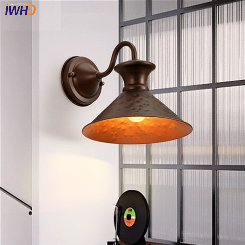 IWHD Loft Style Iron Vintage Wall Light Fixtures Industrial Wind LED Wall Sconce Retro Stair Bedside Wall Lamp Indoor Lighting loz 9402 transformation optimusprime diamond bricks minifigures building block best legoelieds toys