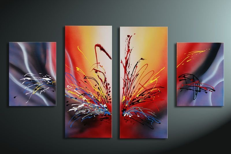 Hand Painted Oil Wall Art Warm Color The Sunset Home Decoration
