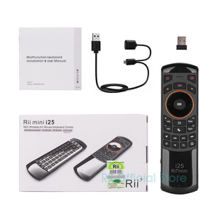 Image 5 - Original 3 in 1 Rii i25 2,4G Mini Wirless Air Maus Tastatur Mit IR Fernbedienung PC Teclado Für tablet Smart Android TV Box