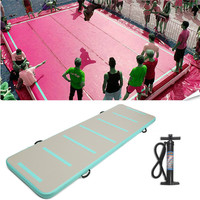 High Quality Inflatable Air Track Floor Home Gymnastic Cheerleading Tumbling Mat GYM with Hand Pump