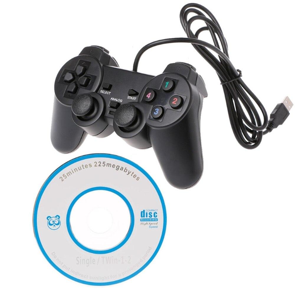 Doble vibración Joystick Gamepad cable USB controlador de juego para PC ordenador portátil para WinXP/Win7/Win8/Win10