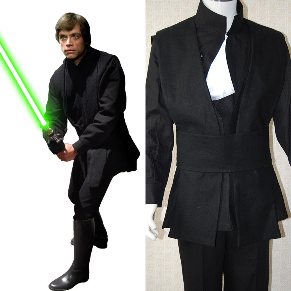 Star Wars Jedi Knight Luke Skywalker Cosplay Costume Tabard+Shirt+Vest+Pants