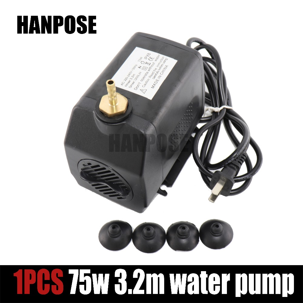 1PCS engraving machine tool cooling 75w 3.2m water pump for cnc router 2.2kw spindle motor and 1.5kw spindle motor