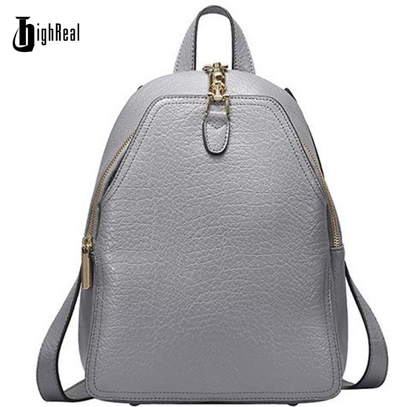 Genuine Leather Women Backpacks Vintage Cowhide American Solid Pattern Woman Bags Daily Pack Preppy Style Quality School Girl 2016 genuine leather woman backpacks fashion cowhide split leather backpacks for lady solid high quality leather woman bag