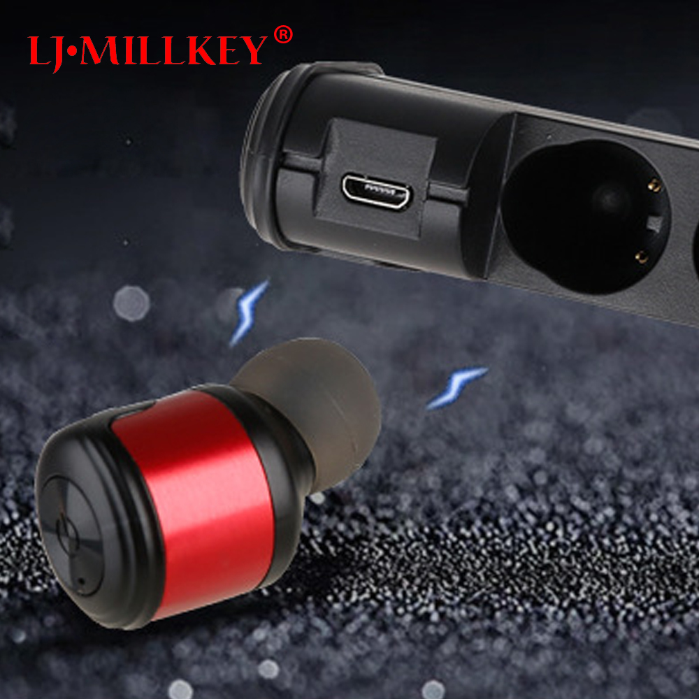 True Wireless Earbuds Hifi Bluetooth Earphone TWS Stereo With Mic for iPhone Samsung Xiaomi Charger Box Earphones MILLKEY YZ153 mini twins bluetooth earphone airpods true tws wireless stereo headset earbuds with mic charge box for iphone samsung xiaomi