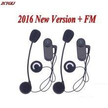 2 pcs Bluetooth Intercom 3 Riders 800M Helmet Comunicador Capacete Motorcycling Bluetooth Headset Moto Interphone+FM Radio
