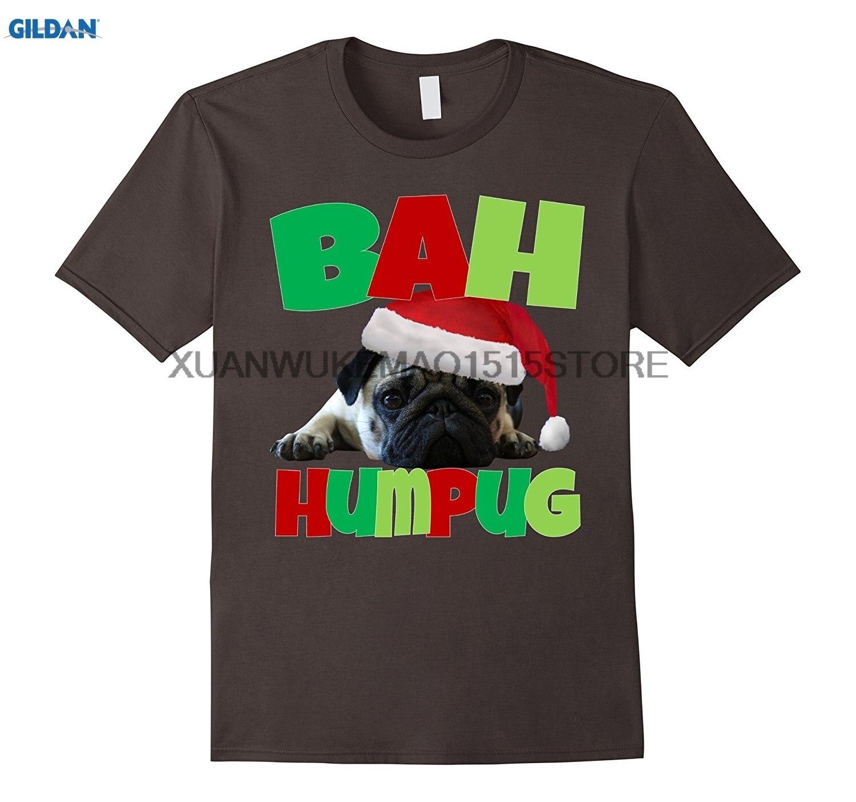 Возьмите 100% хлопок о-образным вырезом Футболка с принтом Бах humpug забавный сердитый Мопс Рождество футболка
