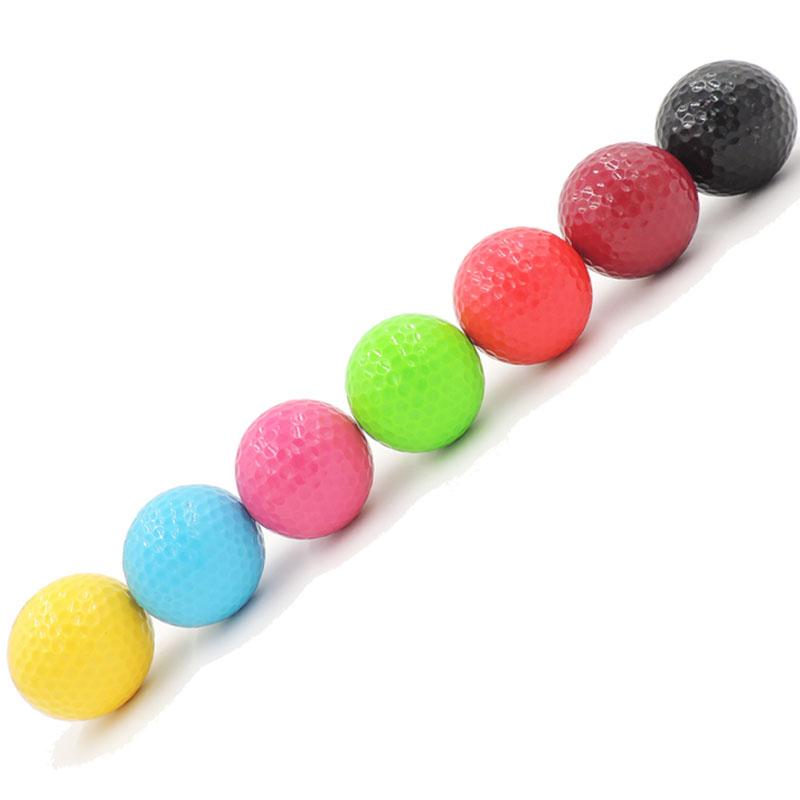 7pcs different colors golf practice ball golf gift ball
