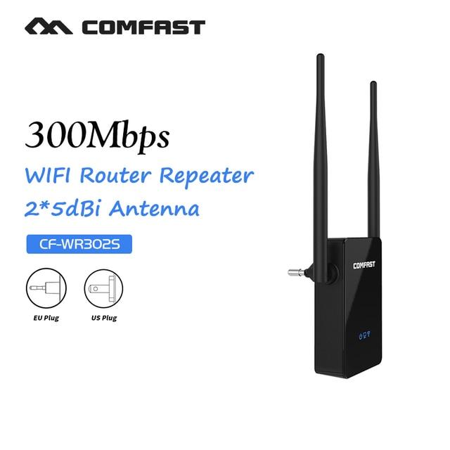 WI-FI Ретранслятор Маршрутизатор Wireless-N wi-fi Ретранслятор Сети Roteador Wi-Fi 300 М Двойной 5dBi Антенны Усилитель Сигнала COMFAST CF-WR302S