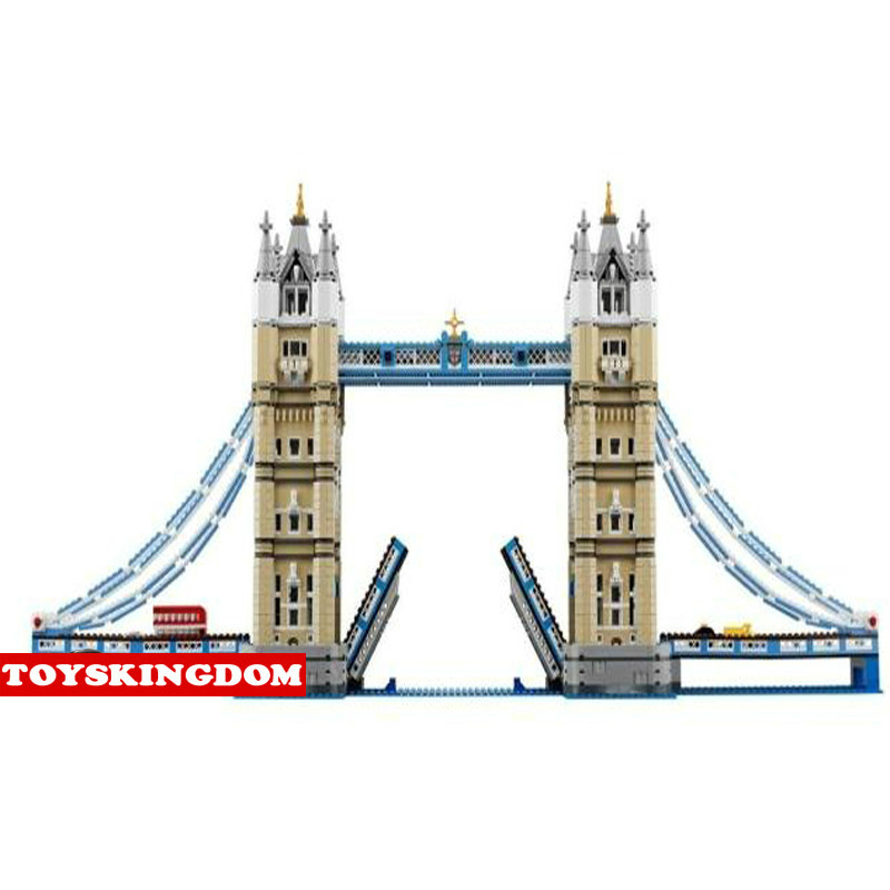 HotLepins Building Block Model  Creators World Famous Architectures Tower Bridge London England UK Bus Car Bricks Toy Collection loz mini diamond block world famous architecture financial center swfc shangha china city nanoblock model brick educational toys