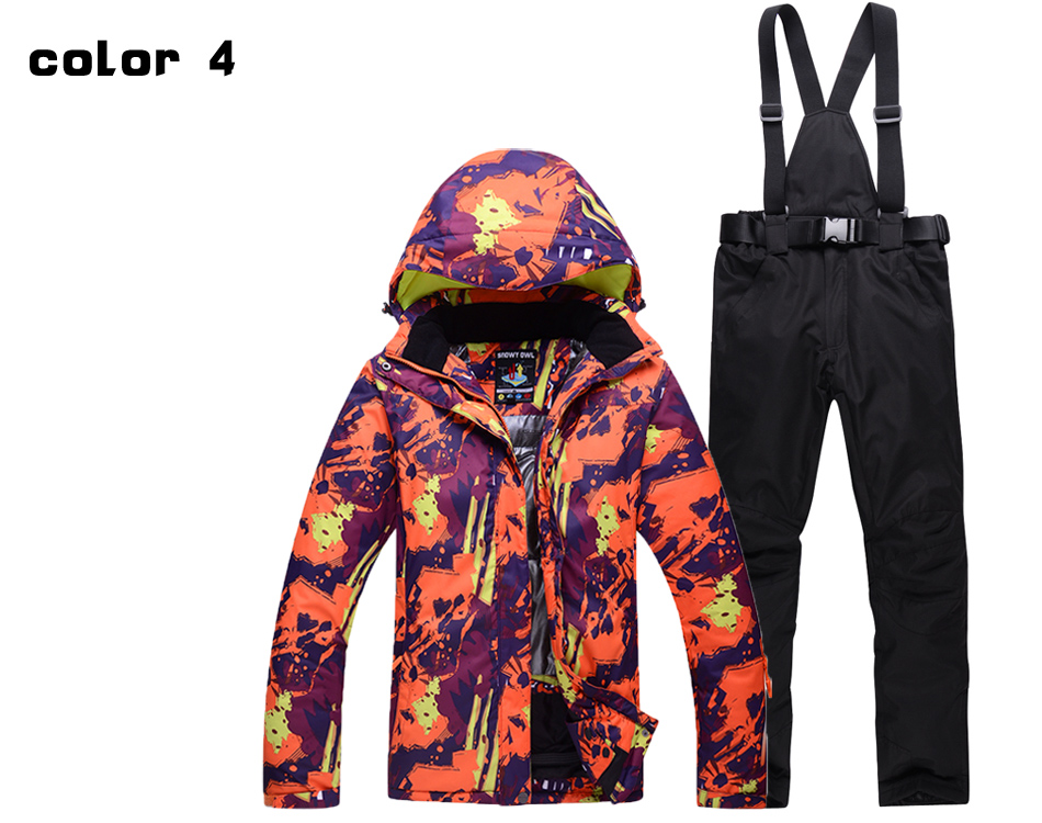 f76843ad7974 Graffiti Man And Woman Unsex Snow Clothing Outdoor Sports Ski Suit ...