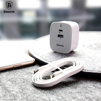 Baseus Type C PD Quick Charger Set For IPhone X 28W UK Plug Adapter 1M USB