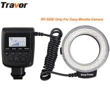 Travor rf-550e macro anel levou anel de flash de luz para fotografia macro com 48 pcs leds apto para sony dslr câmeras