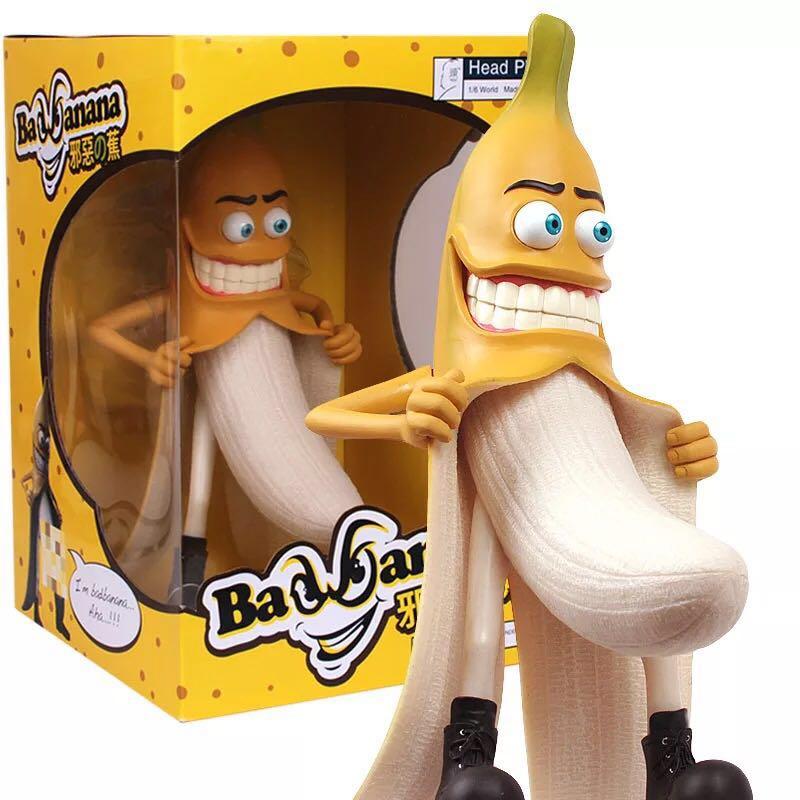 Une pièce 29 cm mal banane drôle diable Style grande nouveauté adultes Figure jouets mode articles antistress oyuncak surprise blague