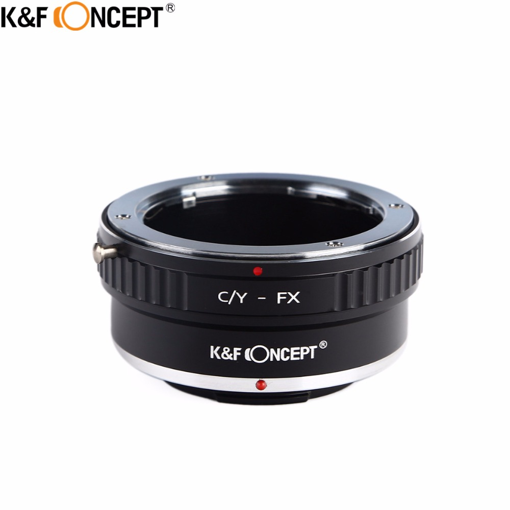 K&F CONCEPT C/Y-FX Camera Lens Mount Adapter Ring For Contax Yashica C/Y Lens to for Fujifilm FX Mount Camera Body