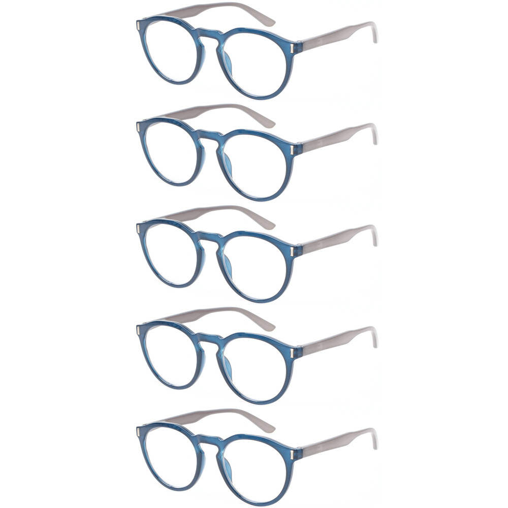 d0c40006f4cb Detail Feedback Questions about 5 pack retro reading glasses men and women  spring hinges round eyeglasses frames readers on Aliexpress.com