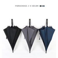Tiohoh Automatic Men Long handle Samurai Umbrella 3 Colors 114CM 8K Strong Windproof Large Katana Sun Rainny Umbrella
