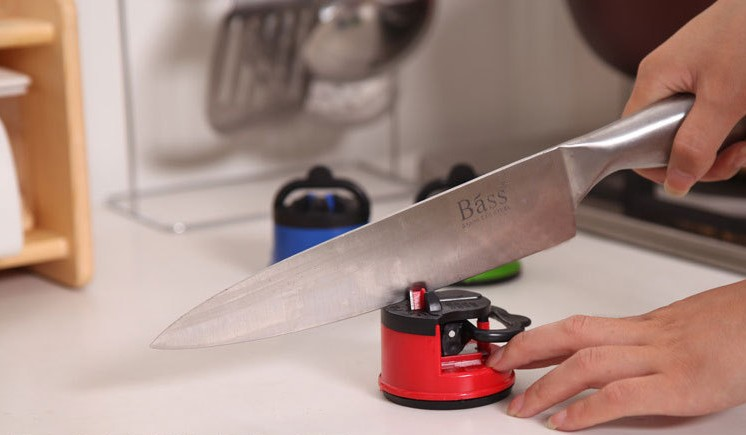 1 개 주방 라운드 모양 칼 깎이 가정용 선명 돌 주방 숫돌 도구 선명 시스템 KX 008
