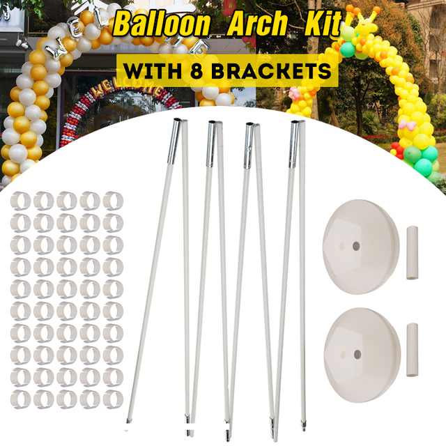 Balloon Arch With 8 Brackets Frame 2 Bases 50 Buckles and 2 ...