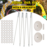 Balloon Arch With 8 Brackets Frame 2 Bases 50 Buckles and 2 Connectores Kits For Birthday Wedding Party Decorations