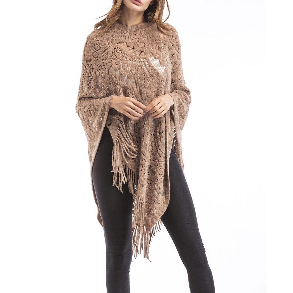 2019 Neue Frauen V-ausschnitt Solide Quasten Mantel Plus Größe Pullover Einfach Bluse Tops Langarm Hoodies Großhandel Und Tropfen Verschiffen