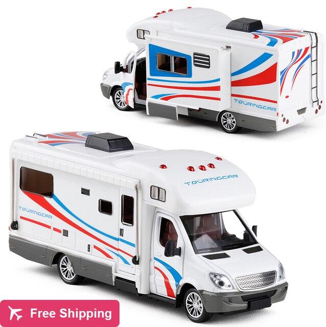 סגסוגת 1:32 קנה מידה מתכת Diecast רכב דגם מנוע יוקרה לאצן בית רכב פנאי RV קרוון קרוואן דגם