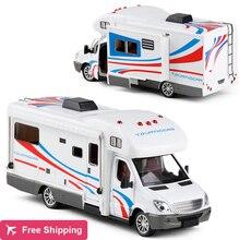 Coche de aleación de Metal fundido a presión para Sprinter, vehículo recreativo para el hogar, modelo de caravana, remolque