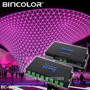 Контроллер светодиодсветильник Artnet Eternet для SPI/DMX, 4 канала, 4CH/16 каналов, 3Ax16CH, DC5V-24V