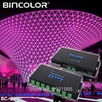 New arrival DC5V 24V Artnet Eternet to SPI/DMX pixel led light controller Output Current 4 channels 7Ax4CH/16 channels 3Ax16CH