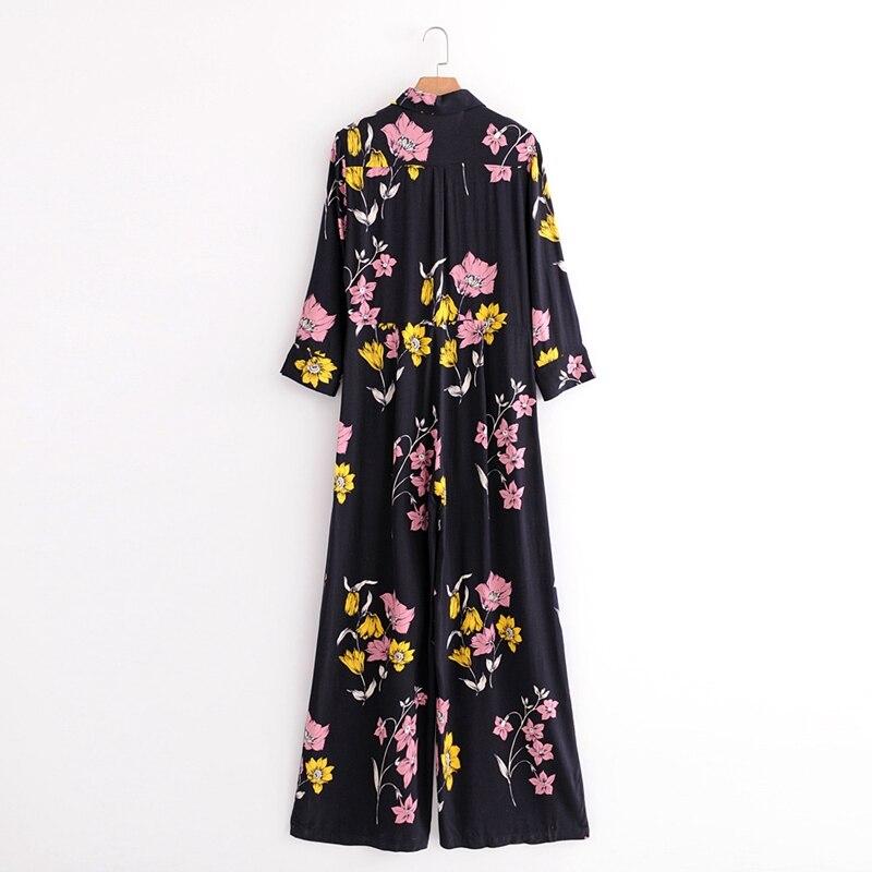 Femmes S9858 Combinaisons Mode Floral D'été Pantalon Décontracté Style De D'impression Lady Print Printemps wIr5BqIP