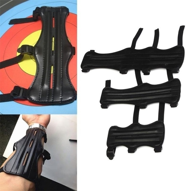 Archery Arm Guard Protection Forearm Safe Adjustable Bow Arrow Hunting Shooting Training Accessories 1
