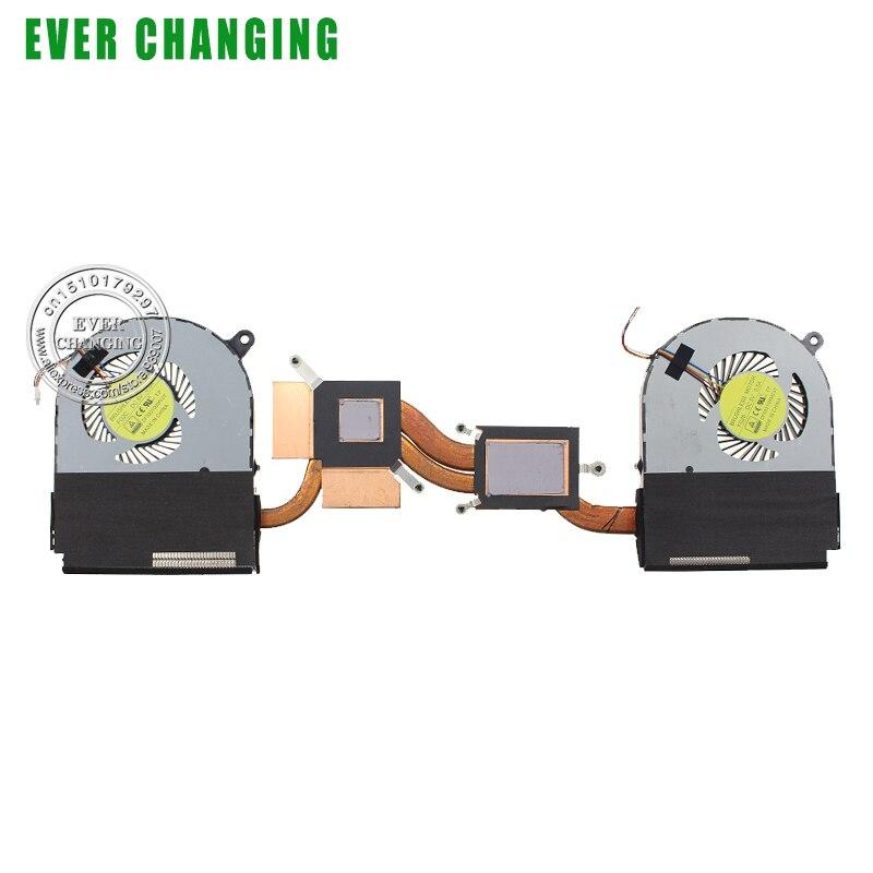 Marca novo e original do dissipador de calor com ventilador Para Notebook Acer Aspire Nitro VN7-591 VN7-591G