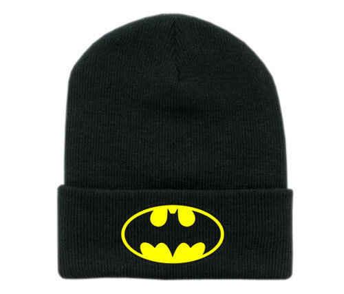 Baru Musim Dingin Topi Wanita Batman Wajah Topeng Unisex Bboy Hitam Hip Hop Skullies & Beanies Pria Rajut Katun Gorro Ski topi Balaclava
