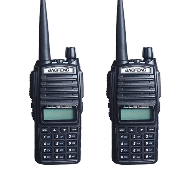 Walkie Talkie 2 PCS baofeng UV 82 Walkie Talkie 5W 10KMFM 65 108MHz VHF 136 174MHz